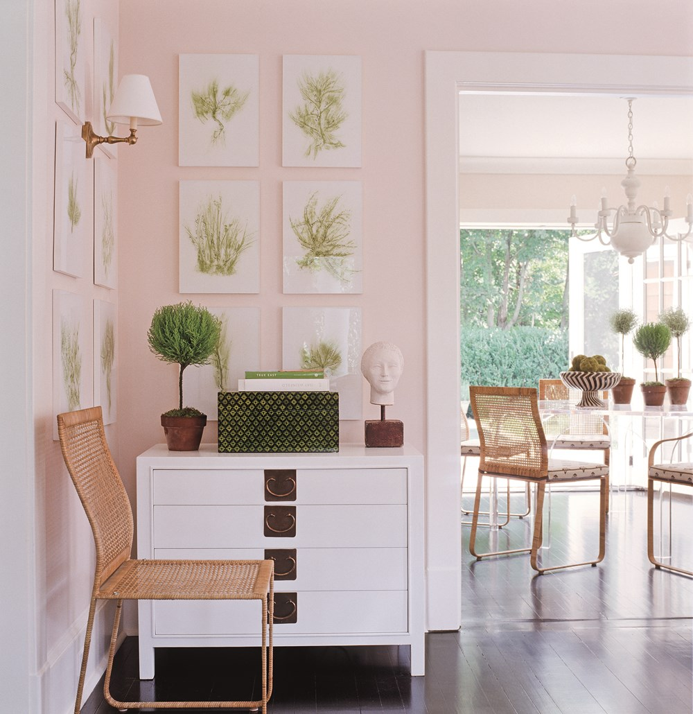 Classic Decor Inspiration from Timothy Whealon #pinkwalls